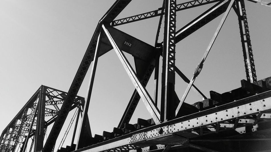 Phoenix, AZ Tempe Bridge 1912 Train Tracks Black And White Black & White Tempe Town Lake Metal Manmade EyeEm Best Shots - Black + White EyeEm Best Shots - Architecture Abstract Abstract Photography