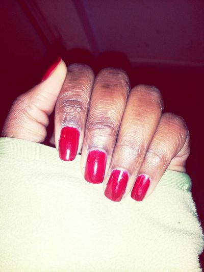Did em red ♥ Red Nails Nail Polish My Favorite Color Enjoying Life