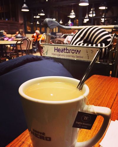 Acupoftea Heathrow Airport Food And Drink Drink Table Refreshment Indoors  Close-up No People Freshness Tea - Hot Drink Food Day Healthy Eating