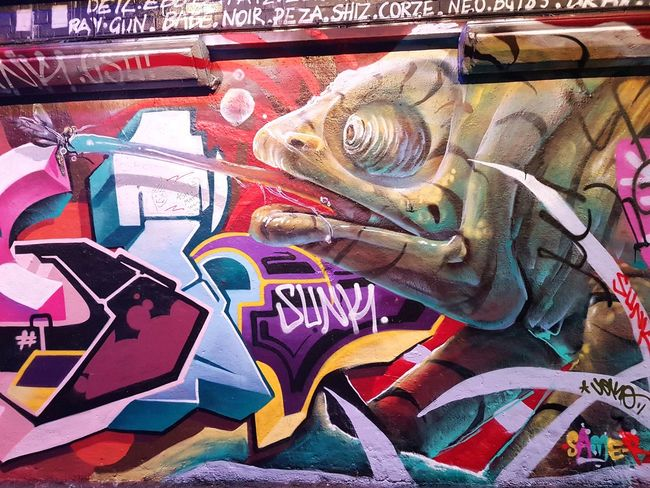 Street Art/Graffiti Multi Colored Full Frame No People Backgrounds Day Close-up Outdoors