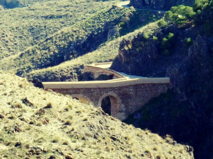 Almería Alhama De Almería La Puente Espana-Spain España🇪🇸 Andalucía Landscapes With WhiteWall Green Color Verde Puente