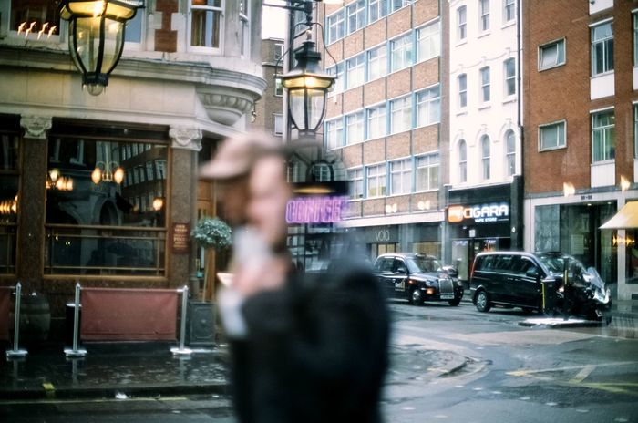 Coffee on my mind Film Film Photography Architecture City Street Blurred Motion Motion City Life