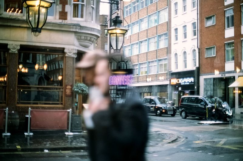 Coffee on my mind Film Film Photography Architecture City Street Blurred Motion Motion City Life The Street Photographer - 2018 EyeEm Awards