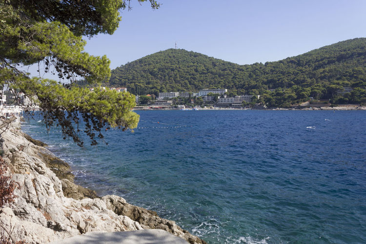Lapad Dubrovnik Outdoors Sea Seascape Croatia Adriatic Sea Croatia ♡ Nobody Summer Water Mountain Scenics - Nature Plant Beauty In Nature Tree Sky Tranquil Scene Tranquility No People Nature Day Land Rock Clear Sky Blue Rock - Object Beach