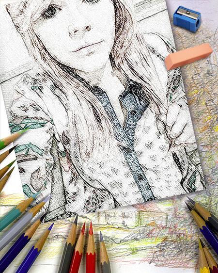Pencil Sketch  Beautiful ♡