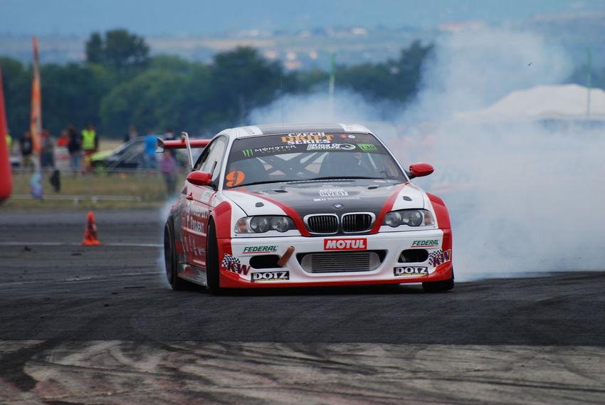 BMW M3 Car Drifting King Of Europe Nikon D40x Smoke Tire Tököl Airport Tököldrift