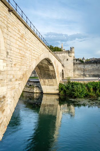 The bridge of Avignon Water Built Structure Architecture Bridge Sky Connection Bridge - Man Made Structure Nature River Building Exterior Day No People Reflection Waterfront Arch Outdoors Travel Destinations Arch Bridge Plant