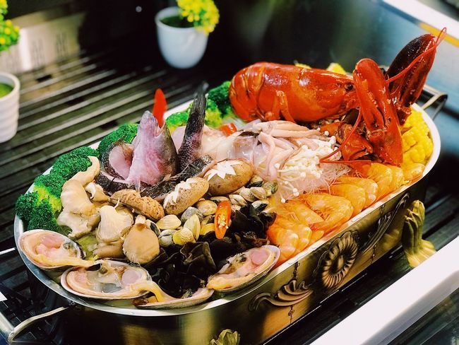 Delicious Chafing Dish Seafood Food Plate Freshness Ready-to-eat Serving Size Close-up