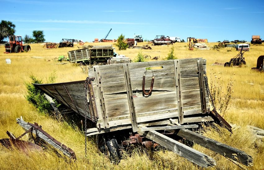 Past it's usefulness Outdoors North Of Douglas Wyoming Abandoned Deteriorated Junkyard Rusted Old Bad Condition Weathered Worn Out Deterioration Obsolete