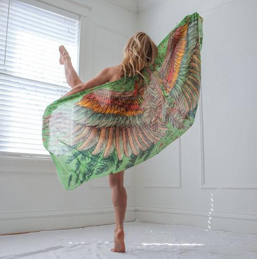 Woman Dancing Indoors