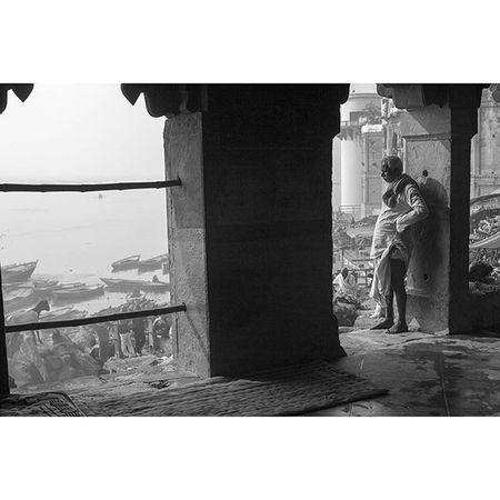 A morning view in Varanasi Bw Blackandwhite B &w Monochrome streetphotography reportage photooftheday picoftheday photojournalism asia everydayasia ontheroad instagood reportage documentary humaninterest photodocumentary