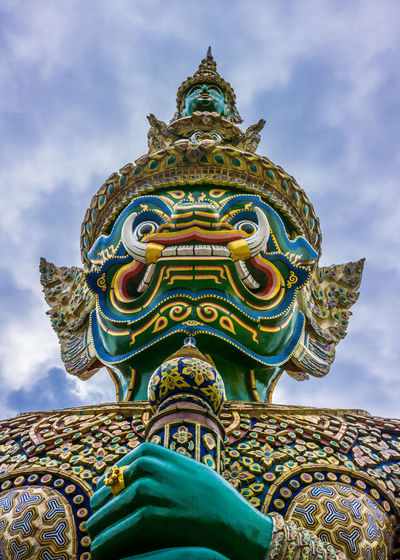 Giant Buddha Temple Architecture Art And Craft Belief Built Structure Cloud - Sky Creativity Day Human Representation Low Angle View No People Ornate Outdoors Place Of Worship Religion Representation Sculpture Sky Spirituality Statue