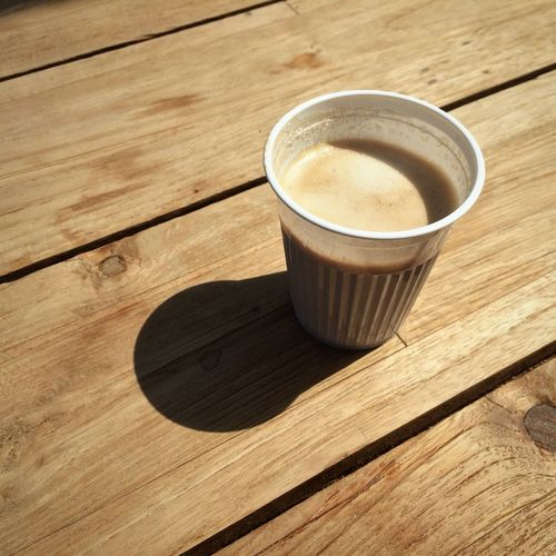 Coffee Coffee Time Plastic Cup Wooden Table Coffee Break Coffee ☕ IPhone 5S IPhoneography