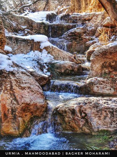 Nature Tranquility Beauty In Nature Scenics No People Winter Water Tranquil Scene Day Outdoors Cold Temperature Snow Tree Close-up Waterfall