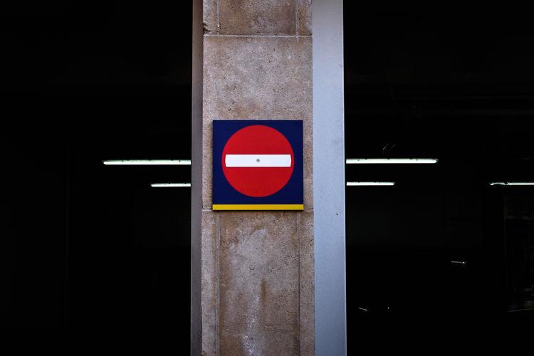 Do not enter sign on column