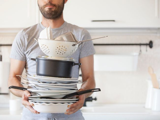 Man is holding a lot of dirty dishes Domestic Kitchen Indoors  Domestic Room Home Interior Casual Clothing Kitchen One Person Domestic Life Men Food Real People Young Adult One Man Only Adult Day People Adults Only Chores Housework Cleaning Washing Dishes Dirty Dishes Black And White Hands EyeEmNewHere