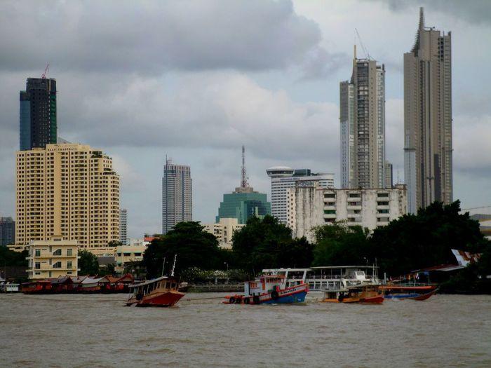 Panoramic view of buildings against sky