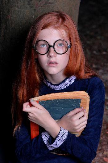 witch Red Head Girl Red Hair Young Girl Doll Red Redhair Yellow Clothes Red Head Young Girl Glasses Witch Hogwarts Slytherin Eyeglasses  Child Portrait Looking At Camera Women Redhead Horn Rimmed Glasses Black Background Dyed Red Hair Freckle Green Eyes Iris - Eye Reading Glasses Pretty Posing Tangled Hair The Portraitist - 2019 EyeEm Awards My Best Photo