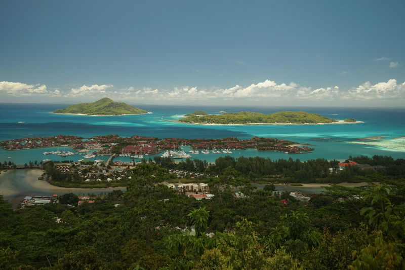 Sea Water Landscape Scenics Outdoors Sky Horizon Over Water Blue No People Cloud - Sky Mountain Nature Beach Day Beauty In Nature Grass Flower Tree City Cityscape Seychelles Island