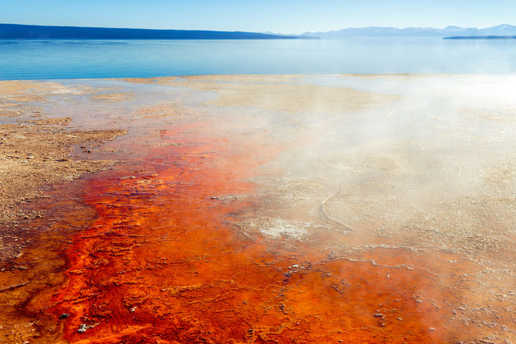 West Thumb Geyser Basin At Yellowstone National Park