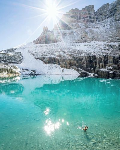 Glacier National Park, Montana, USA 🙈❤️✌️️ Hello guys 😀 Water Beauty In Nature Real People Cold Temperature Picture Hello World ❤ First Eyeem Photo Real Picture I Love Travel Travel Relax 🎈👻 You Follow My Eye Em 💙 I Follow Back