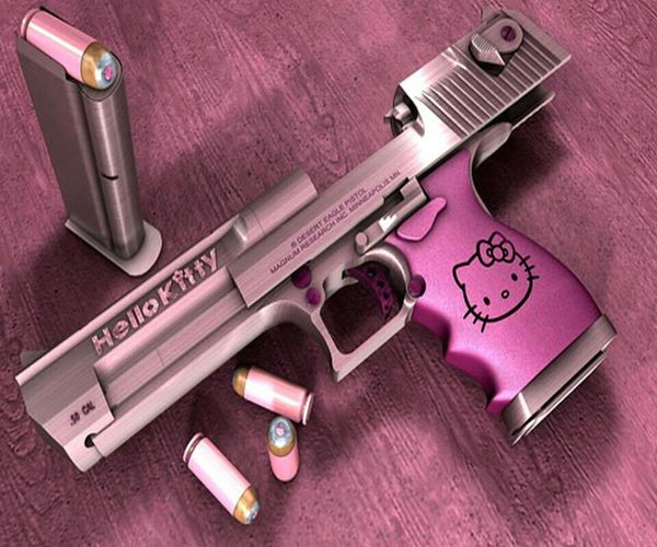 I want this gun brooooo #hellokittygangordie ♡