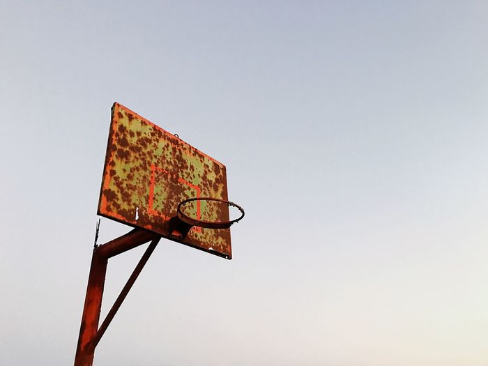 Copy Space Clear Sky Low Angle View No People Sport Day Basketball Hoop Outdoors Basketball - Sport Sky Basketbol Pota Old Urban Eski Küf Hello World The Week On EyeEm