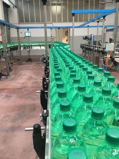 Bottle Bottling Machine Bottling Beverage Industry Drink Minerali Water Beautifully Organized