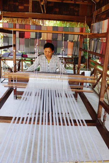 Cambodian Weaving Village - Indeed an experience of a lifetime in learning the culture and tradition of Khmer people Cambodian Khmer Culture Business Stories Indoors  Business Finance And Industry Weaving Loom Industry Factory