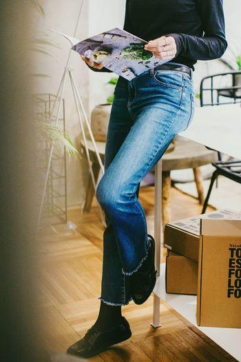 Fashion Human Leg Jeans Casual Clothing Sitting One Person Denim Fashion Indoors  People Young Women Shoe Women Human Body Part Fashion Photography Interiordesign Fashion&love&beauty Indoors  Fashionblogger City Urban Bucharest