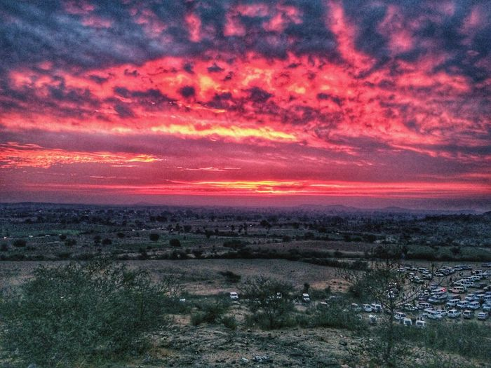 a morning picture of velly from the top of little hill #Morning Beauty In Nature Scenics Nature Sunset Dramatic Sky Sky Tranquil Scene Cloud - Sky Outdoors