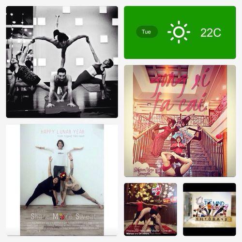 team work Bikram Yoga Happy Love Healthy