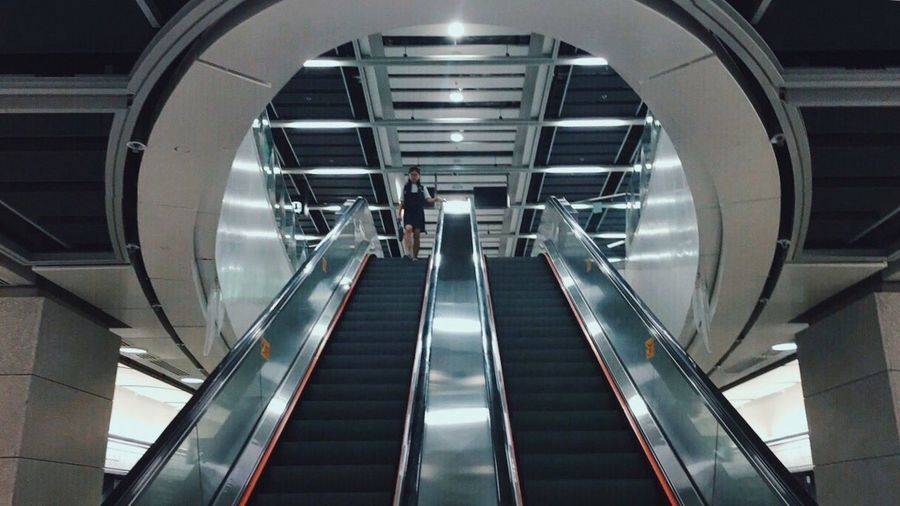 Modern Steps And Staircases Architecture Escalator Built Structure Futuristic HongKong City Life