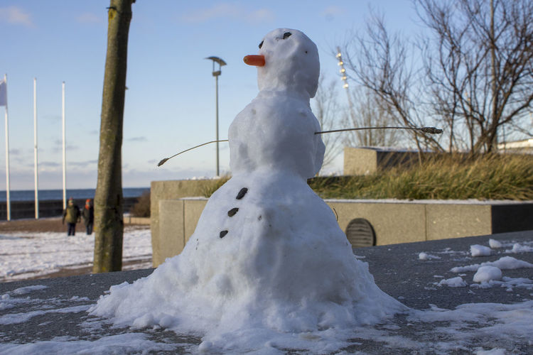 Small snowman Wintertime Close-up Cold Temperature Day Outdoors Snow Snowman Winter Stories From The City