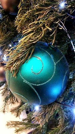Christmas Decoration Blue Green  Christmas Tree