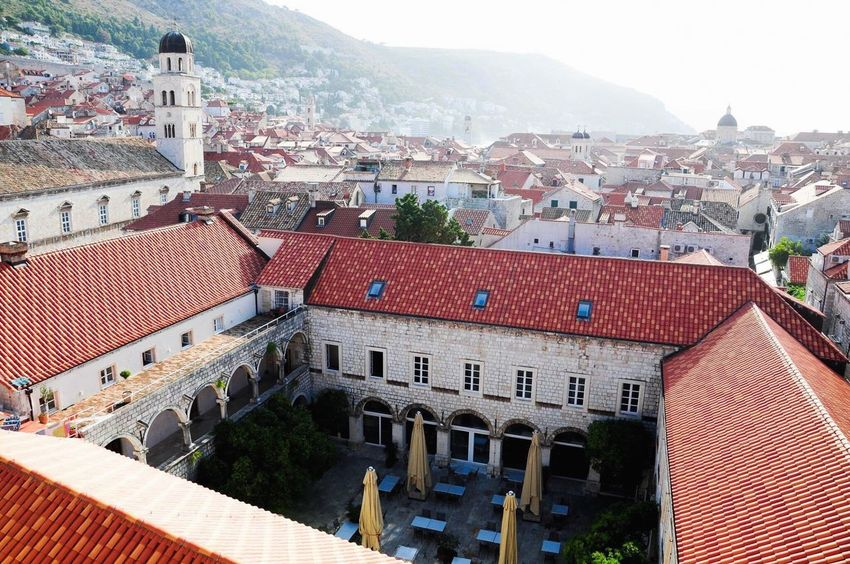 Croatia Dubrovnik Kings Landing Architecture Building Exterior Built Structure Roof House Residential Building High Angle View Outdoors Day Mountain No People City Tiled Roof  Sky Dalmatia Mediterranean  Summer