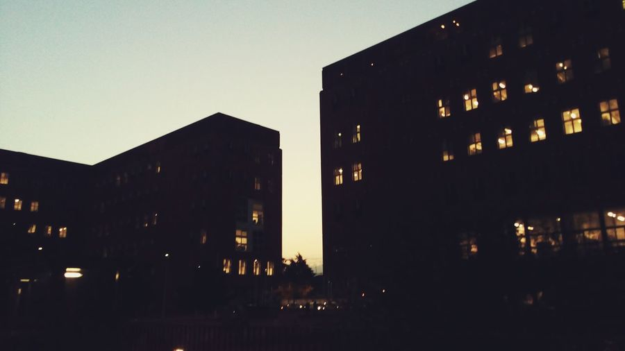 Sky No People Outdoors Sunset Building Building Exterior Italy Bicocca Bicocca University View City Life Architecture Cityscape Illuminated Night City Milan Italy Office Building Simmetry Simmetrical Building