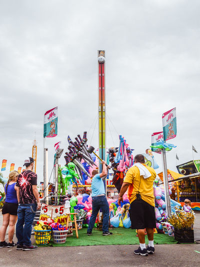 Sky Cloud - Sky Real People Leisure Activity Nature Outdoors Group Of People Park Theme Park Amusement Park State Fair Florida State Fair Playground Fun Strenght