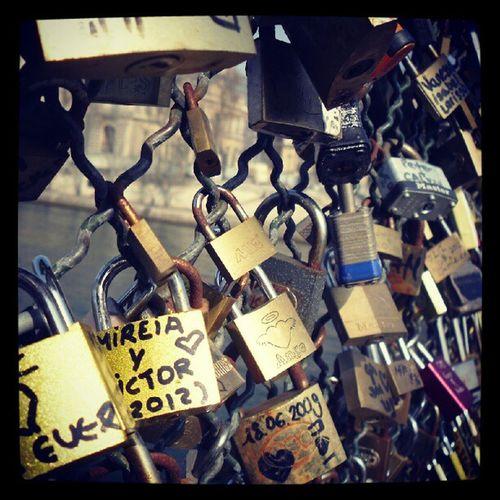 Love locks. Paris Love Lovers Loversbridge romance