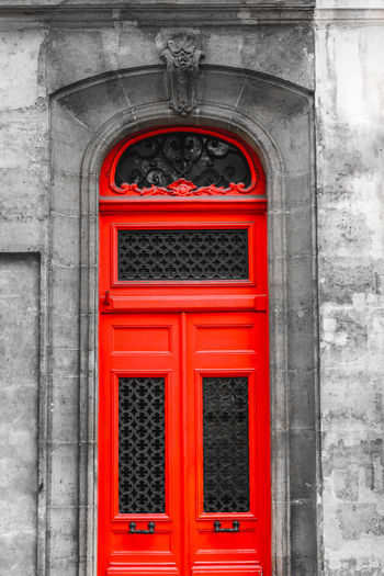 Red Architecture Built Structure Building Exterior No People Day Arch Entrance Door Outdoors Building The Past History Wall - Building Feature Window Closed City Wood - Material Safety