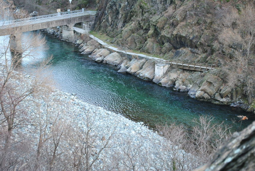 Beauty In Nature Bridge Italy Mountains Landscape_Collection Nature Riverside Water Wintertime