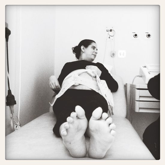 Baby Monitoring Enjoying Life Monochrome Black And White