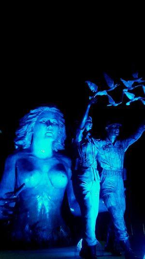 Human Representation Arts Culture And Entertainment Illuminated El Salvador Impresionante Stage Light Full Length