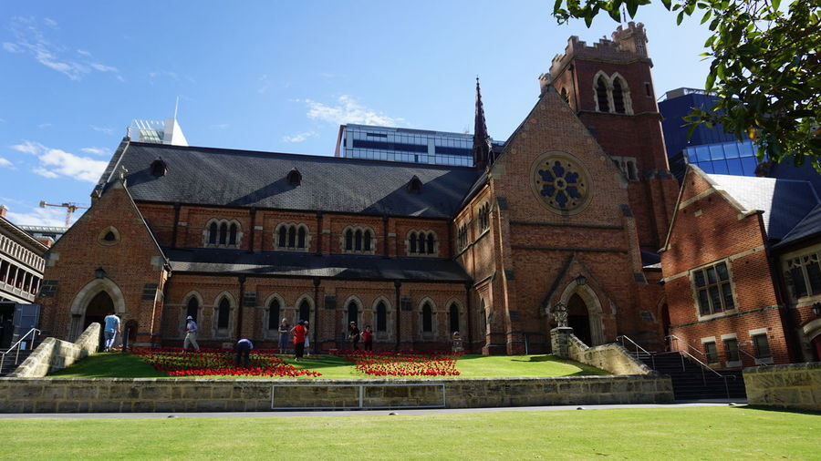 St George's Cathedral Church Architecture Architecture History Remembrance Day Cloud - Sky Sunlight Day Sky Outdoors Building Exterior Travel Destinations Poppy Perth Western Australia