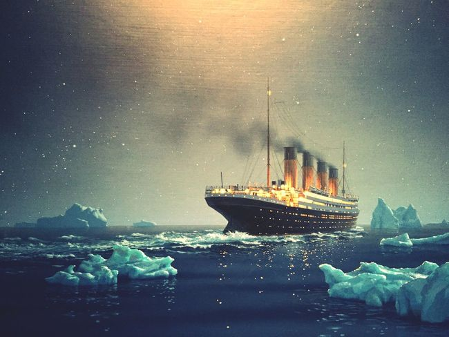 Titanic Cold Temperature Nautical Vessel Iceberg Catastrophy legend Unforgettable Moment