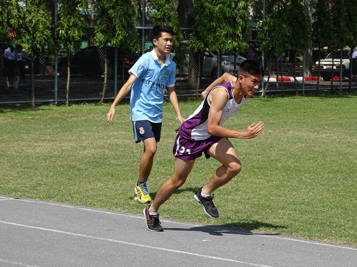 Full length of young man running