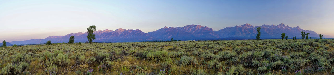 Tetons Jackson Hole Wyoming Panorama Landscape Sunrise_sunsets_aroundworld