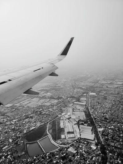 Bekasi top view Bekasi, Indonesia Sky View Flight Halim Jakarta Indonesia City City Cityscape Flying Airplane Aerial View Sky