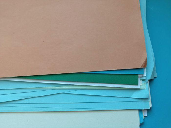Full frame shot of blue wooden table