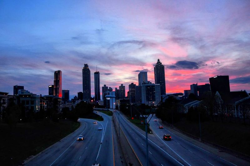 Atlanta Skyline - Jackson Street BridgeArchitecture Modern Urban Skyline Skyscraper Traffic Development Downtown District City Life Road Speed City Illuminated Office Building Exterior Cloud - Sky Car Sky EyeEmNewHere Beauty In Nature Atlanta Skyline Outdoors EyeEm Nature Lover EyeEm Best Shots Canonphotography DSLR